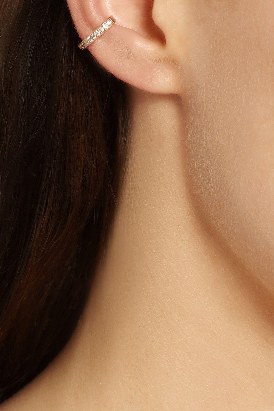 Cute lip piercing ideas  Anita Ko  karat gold diamond ear cuff  My home  Pinterest