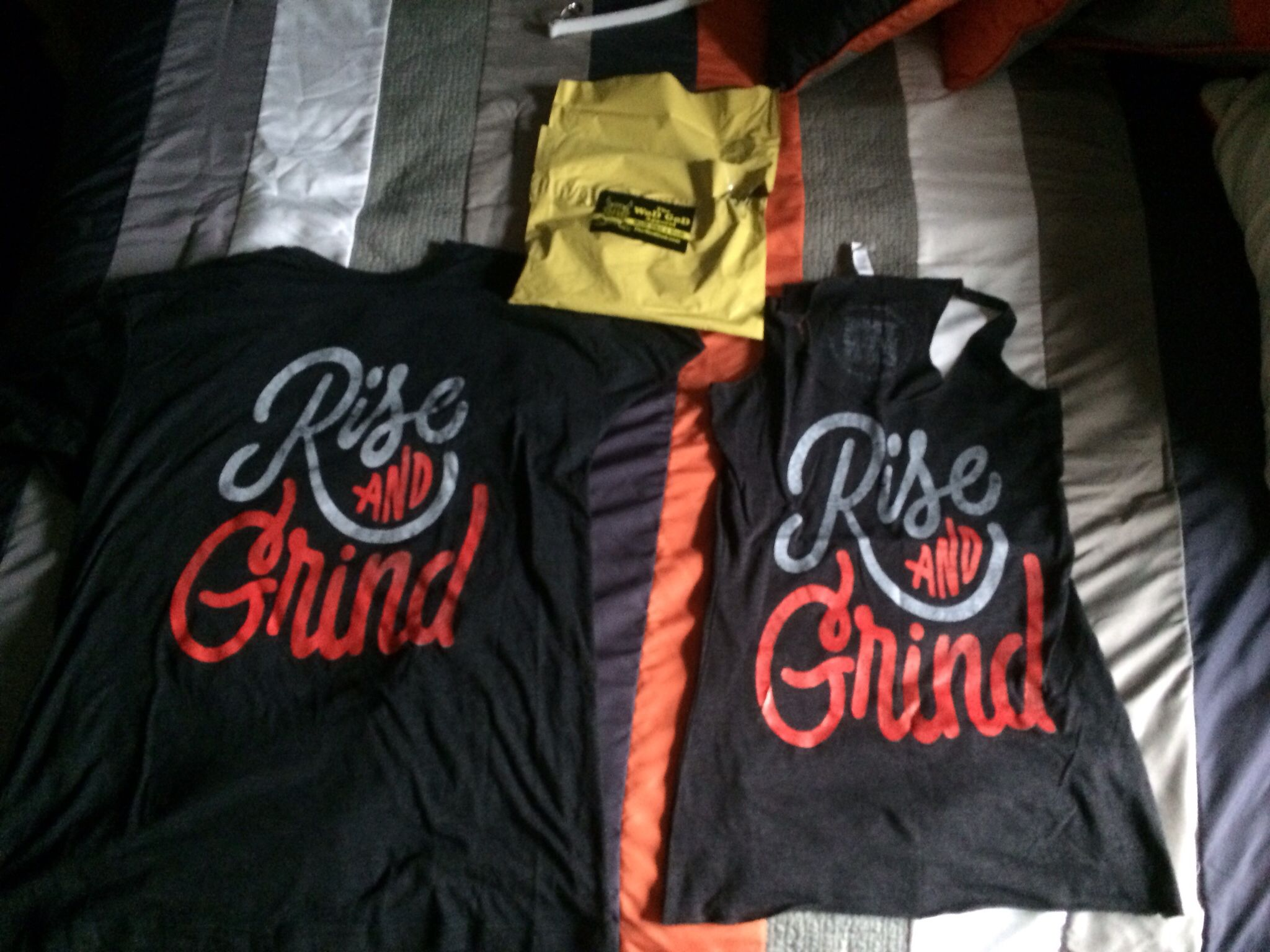 Wod of God Appreal - new shirt Rise and Grind back says Wod Like a God @thewodgod.com