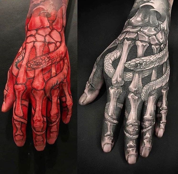 Pin By Joshua Clough On Ink Skeleton Hand Tattoo Hand Tattoos Finger Tattoos