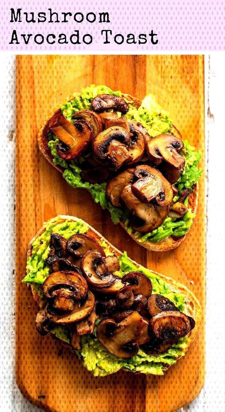 Pilz Avocado Toast  - Vegan und gesund -