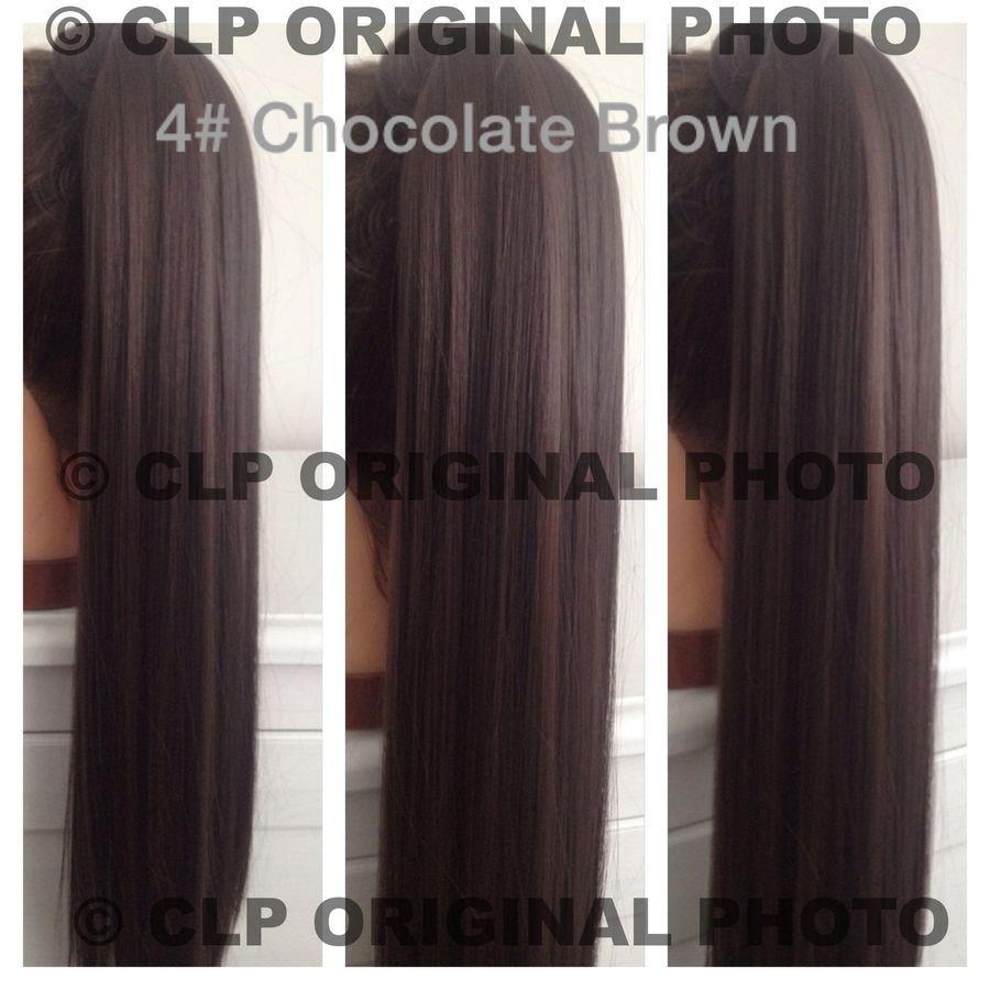 Uk ponytail hair extension clip in wrap around