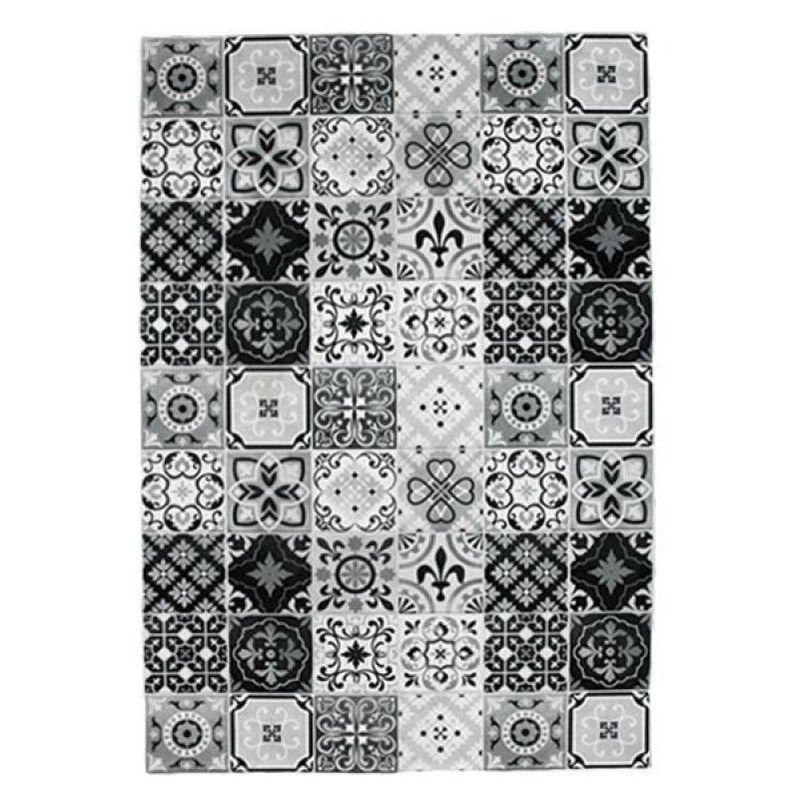 Tapis Carreaux De Ciment 60 X 90 Cm Noir Blanc Thedecofactory Products In 2019 Rugs Deco Decor