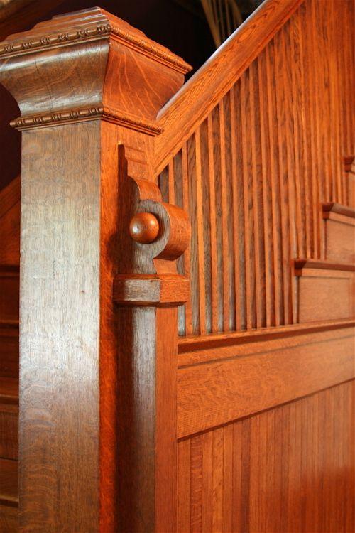 Lighting Basement Washroom Stairs: Beautiful Wood Stair Railing