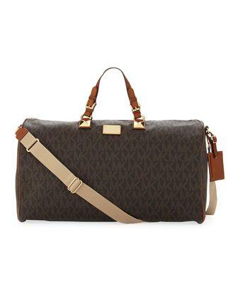 3964fcd253fd MICHAEL Michael Kors Large Jet Set Logo PVC Duffle Bag. | Handbags ...