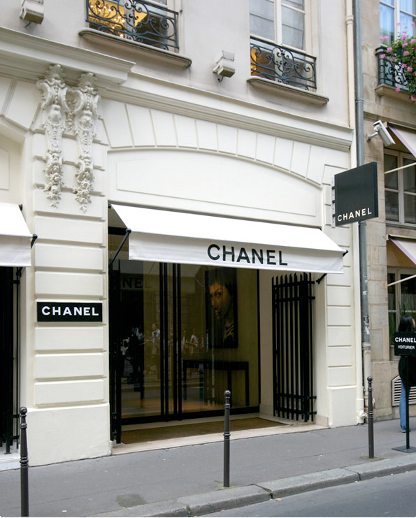 The Chanel store is so famous it needs no proper address  The