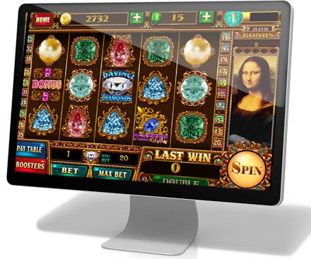 The Official Slot Game Image For Da Vinci Diamonds Casinofootball
