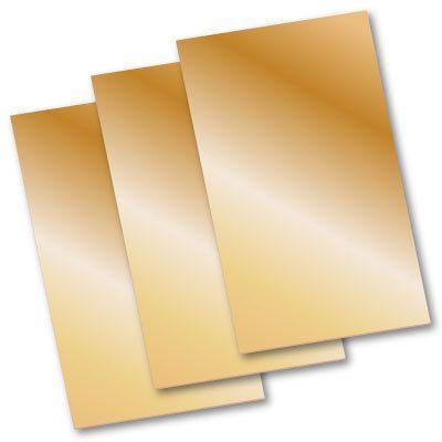 Red Brass Sheet 20ga 6x12 Brass Sheet Red