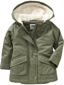 db0986942936 Hooded Twill Jackets for Baby