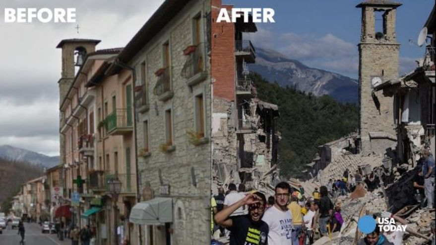 Before And After Photos Of Amatrice Show True Devastation