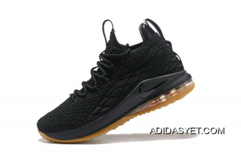 c8c490b6e9716 2018 Nike LeBron 15 New Shoe EQUALITY PE Black Metallic Gold ...