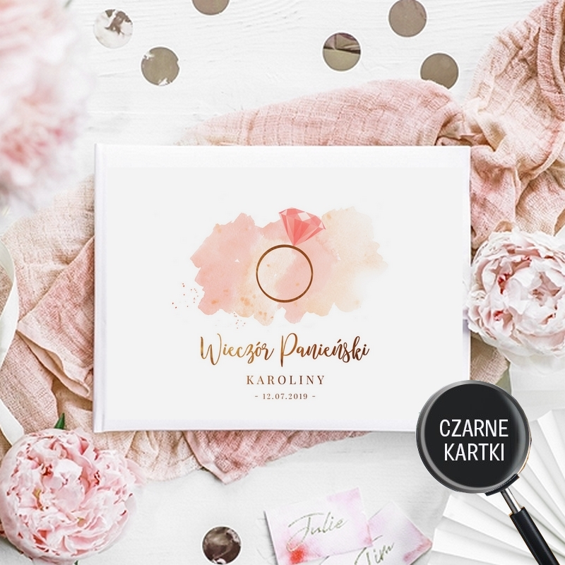 Ksiega Na Panienski Czarne Kartki Do Instaxa Rosegold Z Imieniem Sklep Pinkdrink Pl Place Card Holders Place Cards Bride