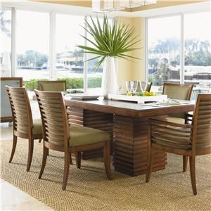 Tommy Bahama Home Ocean Club 7 Piece Peninsula Dining Table