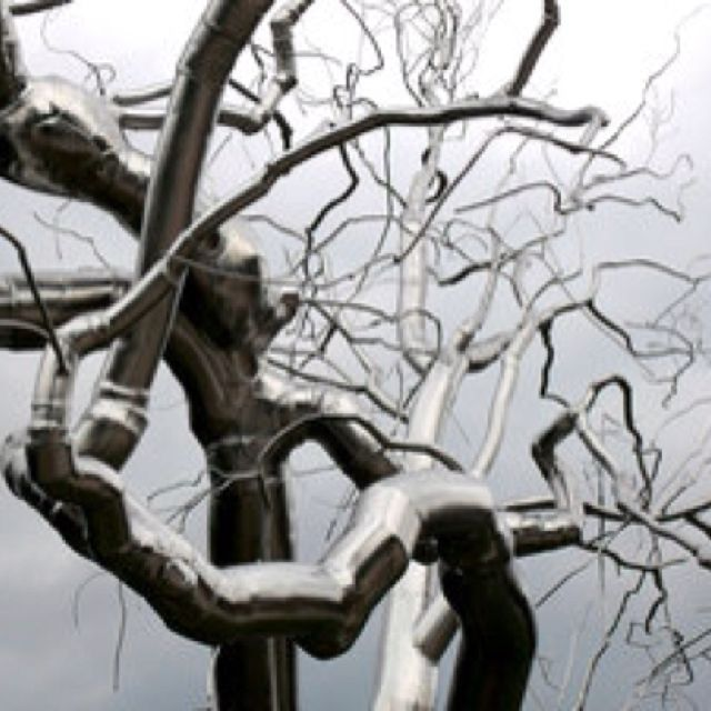 """Sculpture Called """"Graft"""". A Silver Tree By Roxy Paine At"""