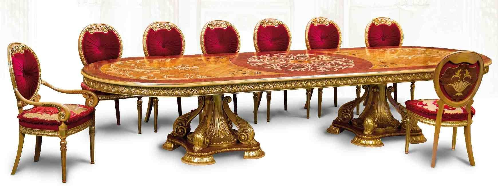 Luxury Handmade Furniture Imported From Europe Many Sizeatching Items Available Empire Style Dining Table