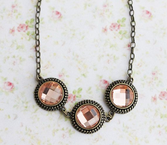 The Peach Dream Necklace Fall Fashion Autumn by rosesandlemons, $34.00