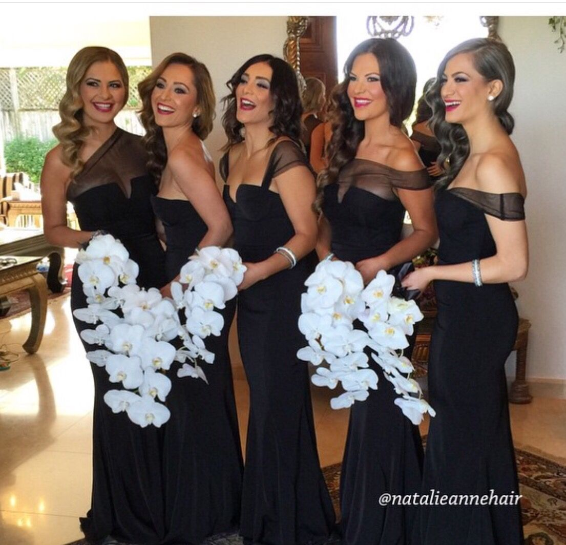 Bridesmaid dresses bridesmaid dresses pinterest wedding mismatched different styles cheap sexy black long mermaid bridesmaid dresses the long bridesmaid dresses are fully lined 4 bones in the bodice ombrellifo Image collections