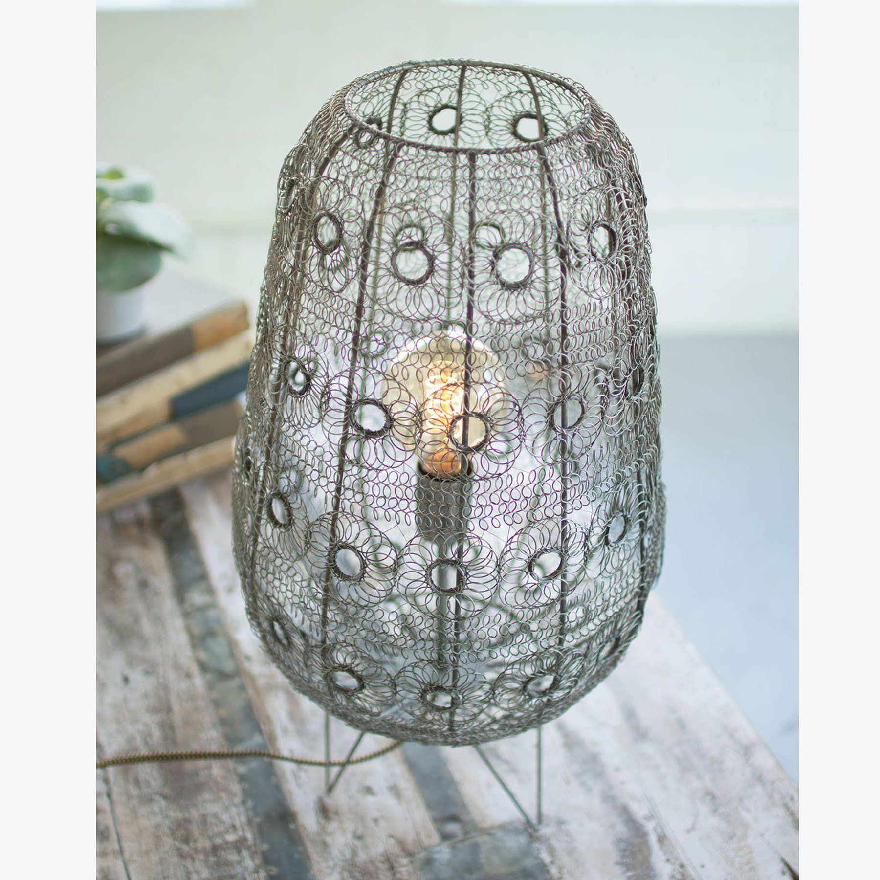 Wire Flower Weave Table Lamp Lamp Wire Table Lamp Lamp