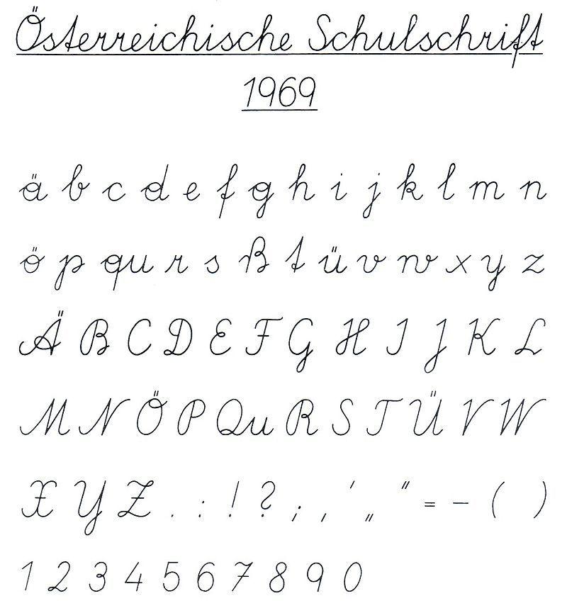 Schulschrift 1969 - Ausgangsschrift – Wikipedia | Doodling ...