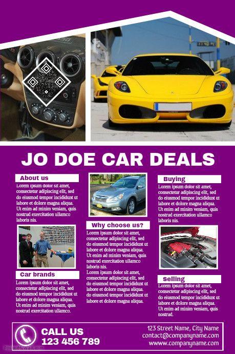 Multipurpose detailed brochure - Great for car dealership business - car flyers