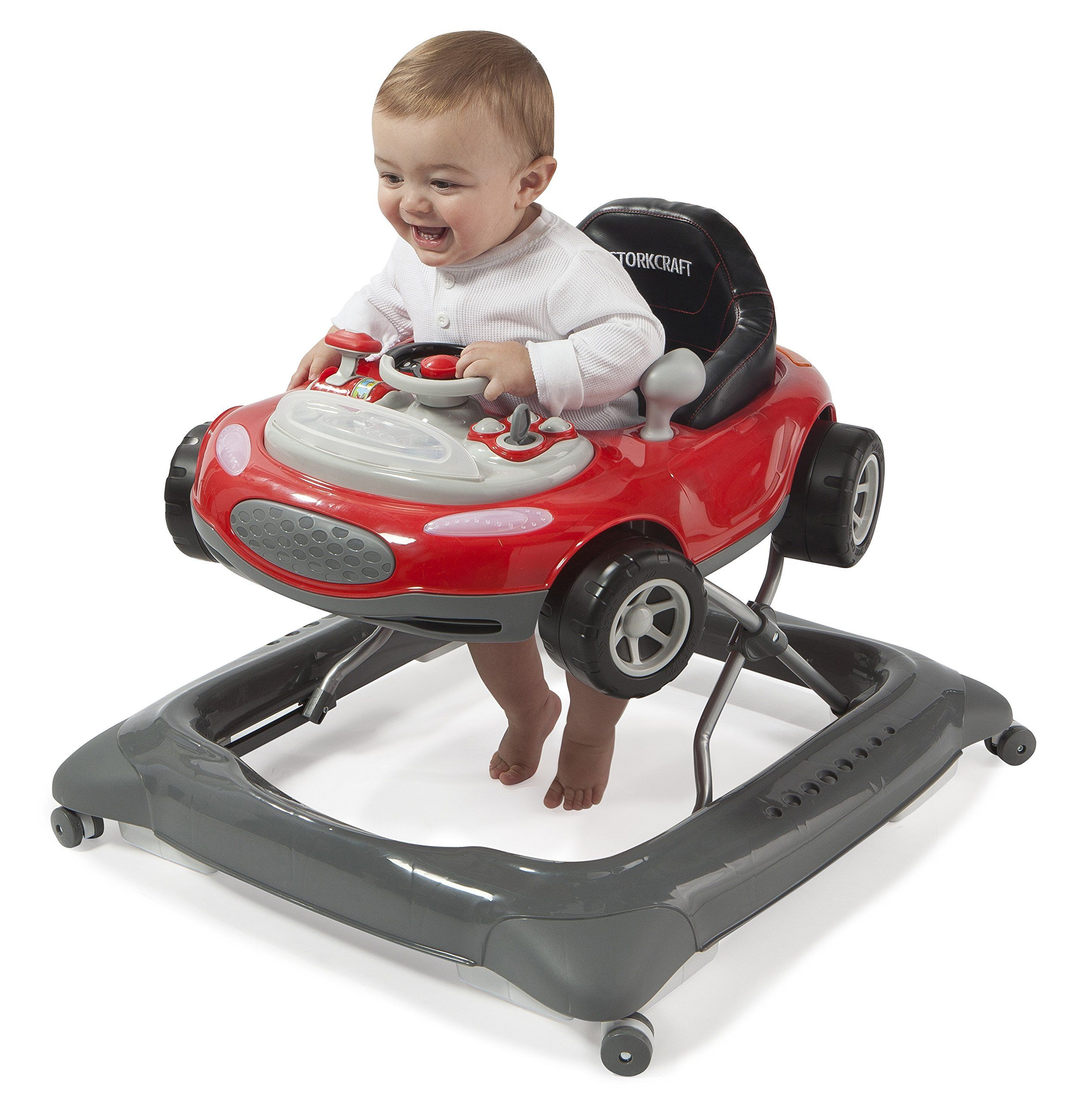 Stork Craft Mini Speedster Activity Walker Red Removable