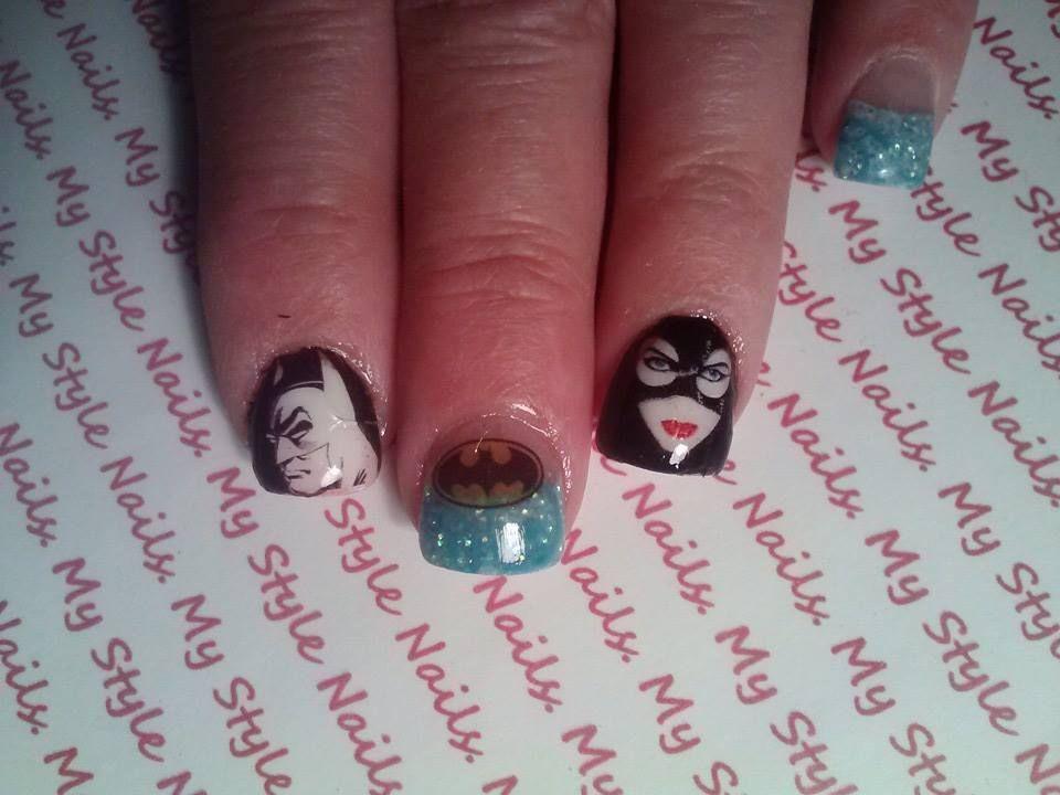 Batman Catwoman Nails Nail Art Pinterest Batman And Nail Stuff