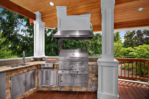 Traditional Outdoor Photos Outdoor Kitchens Design, Pictures, Remodel, Decor and Ideas - page 13