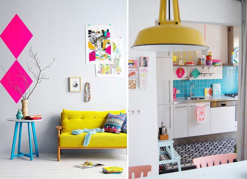 Felle kleuren in je interieur woonnieuws pinterest for Kleuren interieur