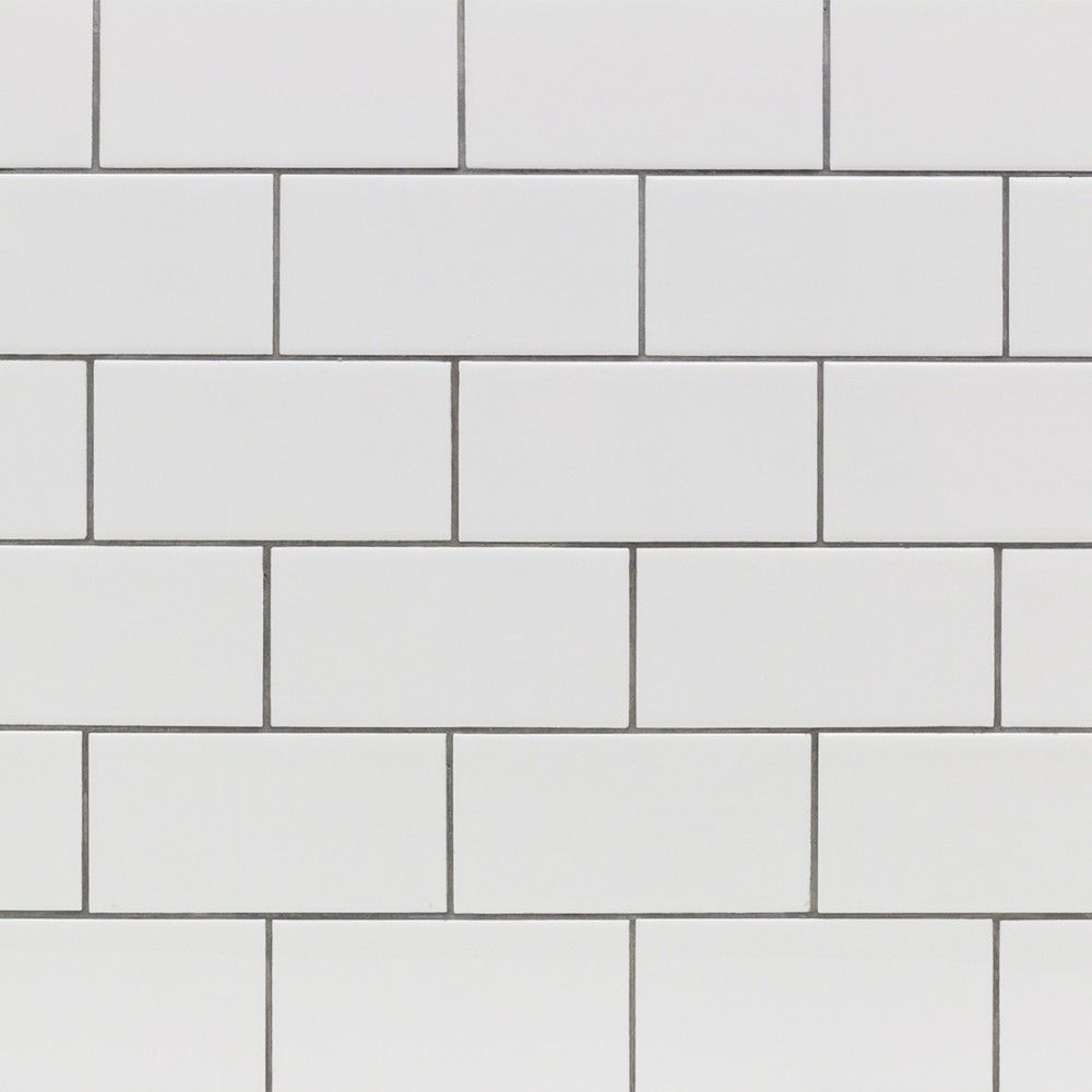 Basic white 3x6 polished ceramic wall tile dailygadgetfo Image collections