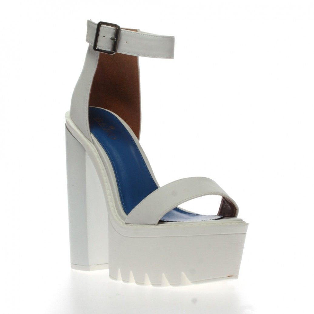 f6f4f150795 Jessi White Cleated Sole Platform Shoes