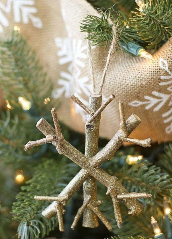 Creative Christmas Crafts Ideas Natural Materials Snowflake Natural Wood Ideas Creative Christmas Crafts Christmas Decorations Rustic Diy Christmas Tree
