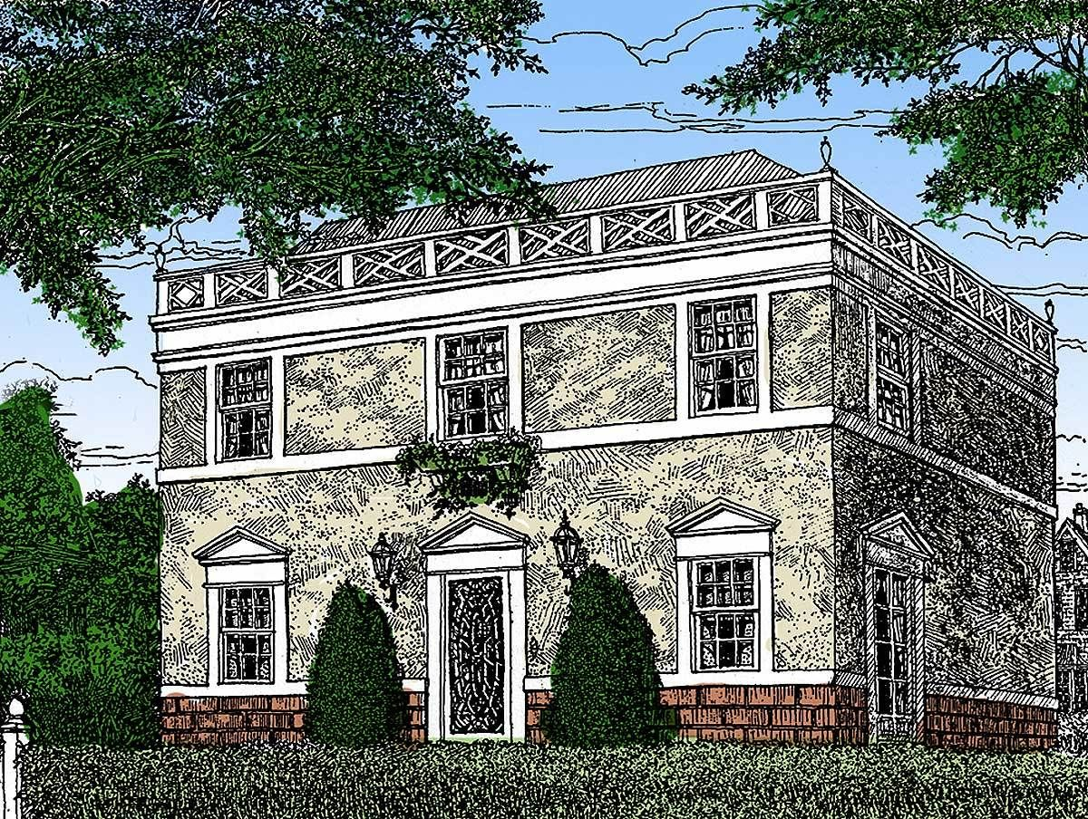 Plan 11619gc Federal Style Home Plan Federal Style House House Plans Colonial House Plans