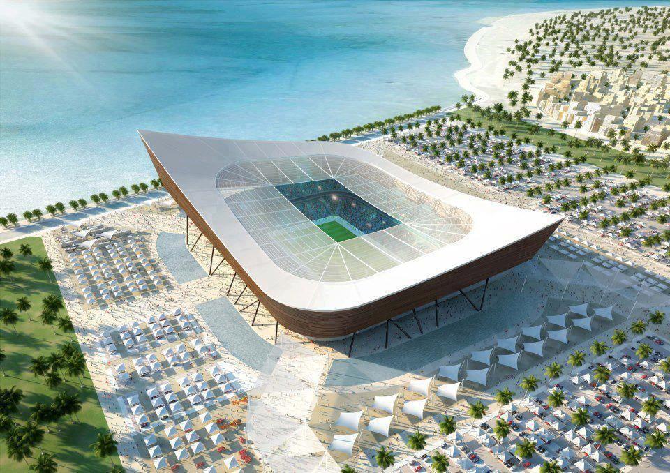Qatar S 2022 World Cup Stadium Design Stadium Design Qatar World Cup Stadiums Stadium Architecture
