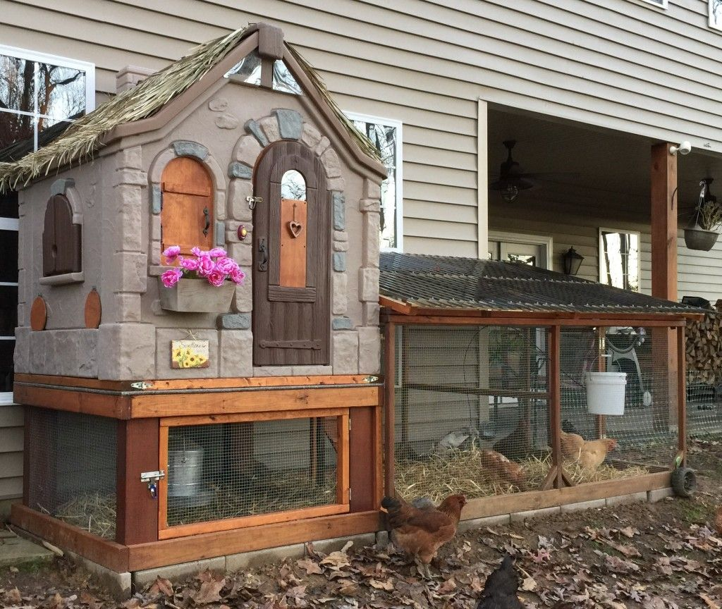 playhouse coop community chickens cool coops pinterest