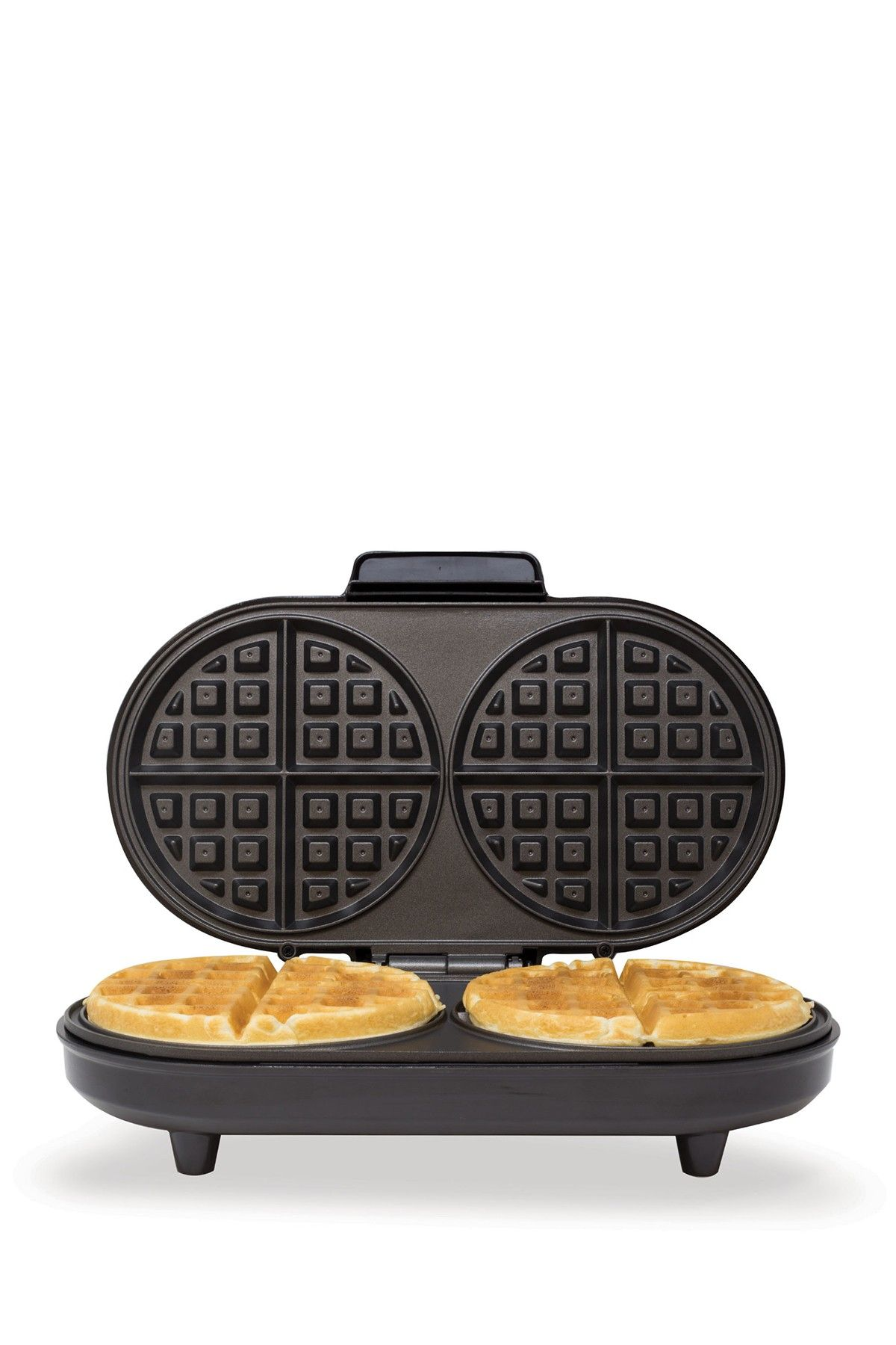 Kalorik Black And Stainless Steel Double Belgian Waffle Maker Hautelook Double Belgian Waffle Maker Waffles Maker Belgian Waffle Maker
