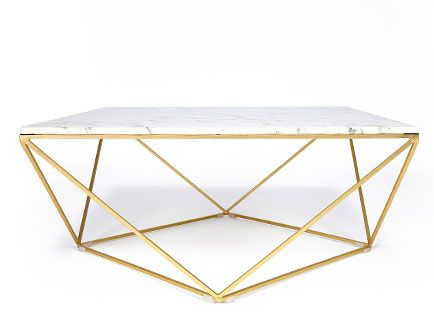 Blanc Design Avec Façon FerLondon Marbre Piètement Basse En Table QxhCBrtsd