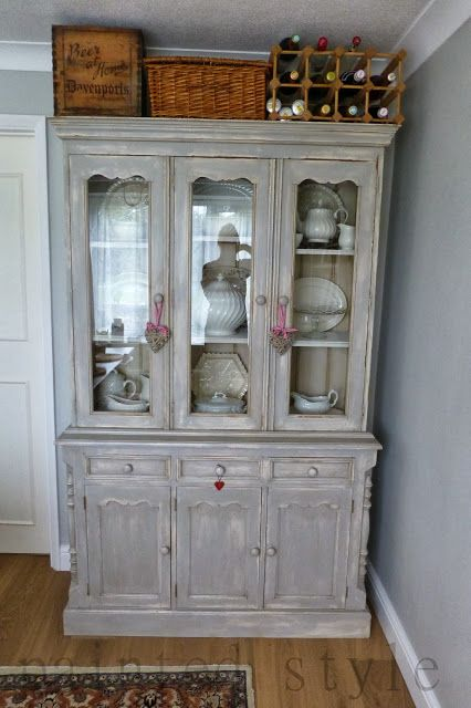 Painted Pine Dresser Wet Distressing Shabby Chic Painted