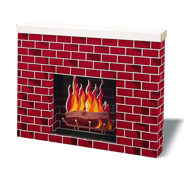 Great for home, school or office. Life-size Corobuff® three-dimensional fireplace is sturdy and easy to assemble. Perfect for creating a home-like warm environm
