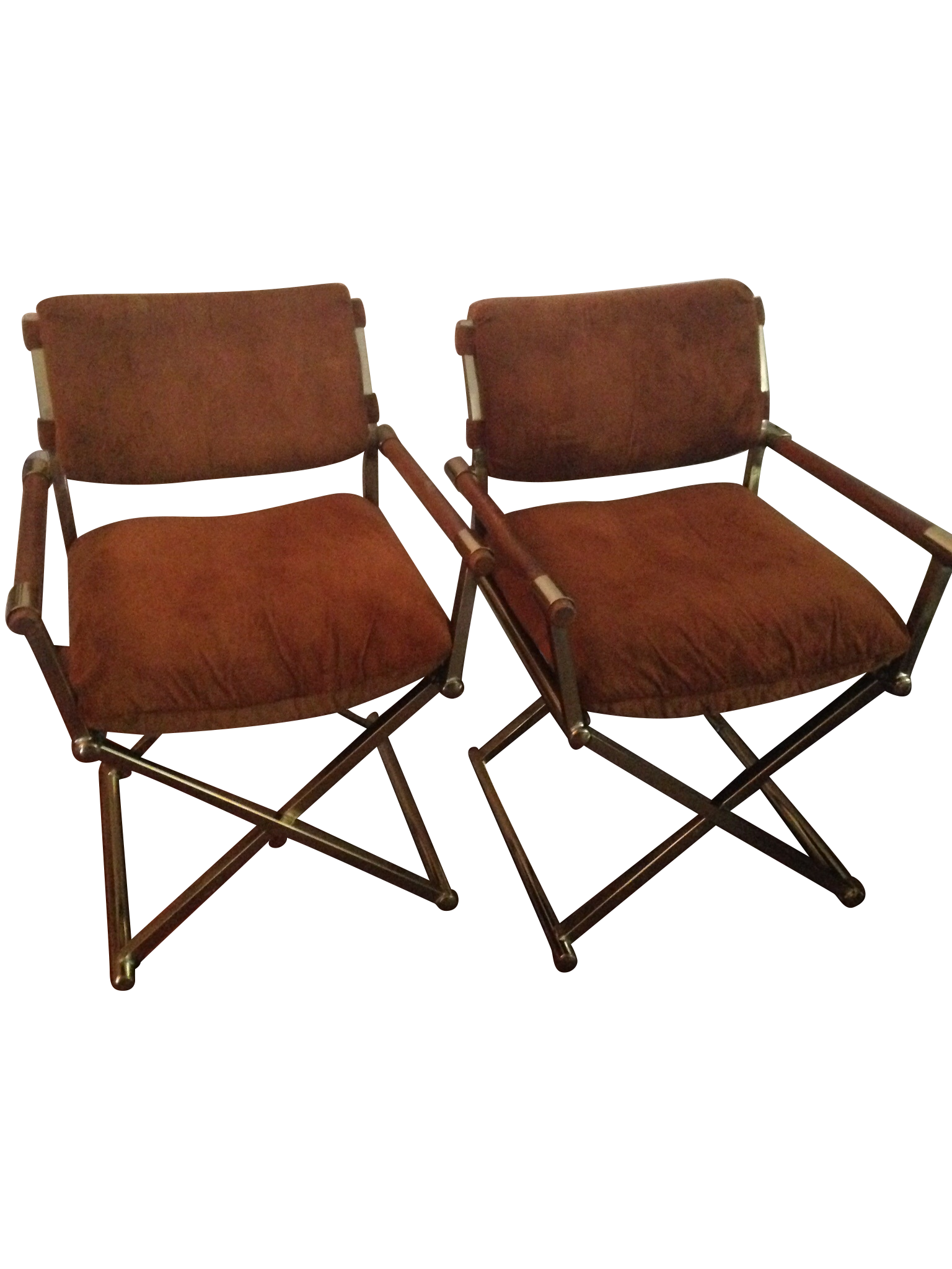 Milo Baughman Vintage Director Chairs A Pair On Chairish Com
