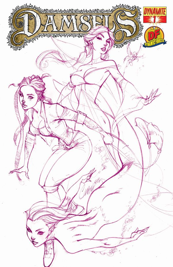 #Damsels #1 #Dynamite #DynamicForces (Cover Artist: J. Scott Campbell)