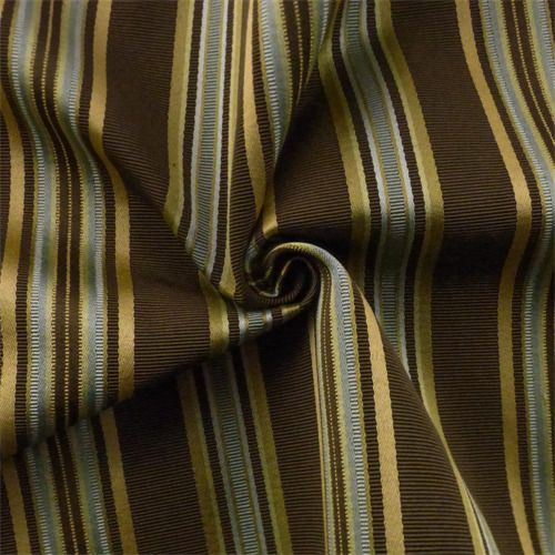 Brown/Multi Stripe Home Decorating Fabric, Fabric By The Yard ...