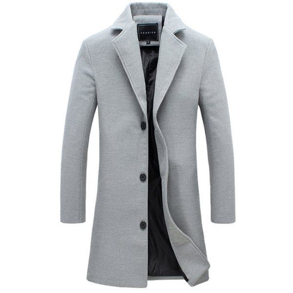 Grey Single Breasted Wool Coat | Clothes!! | Pinterest | Single ...
