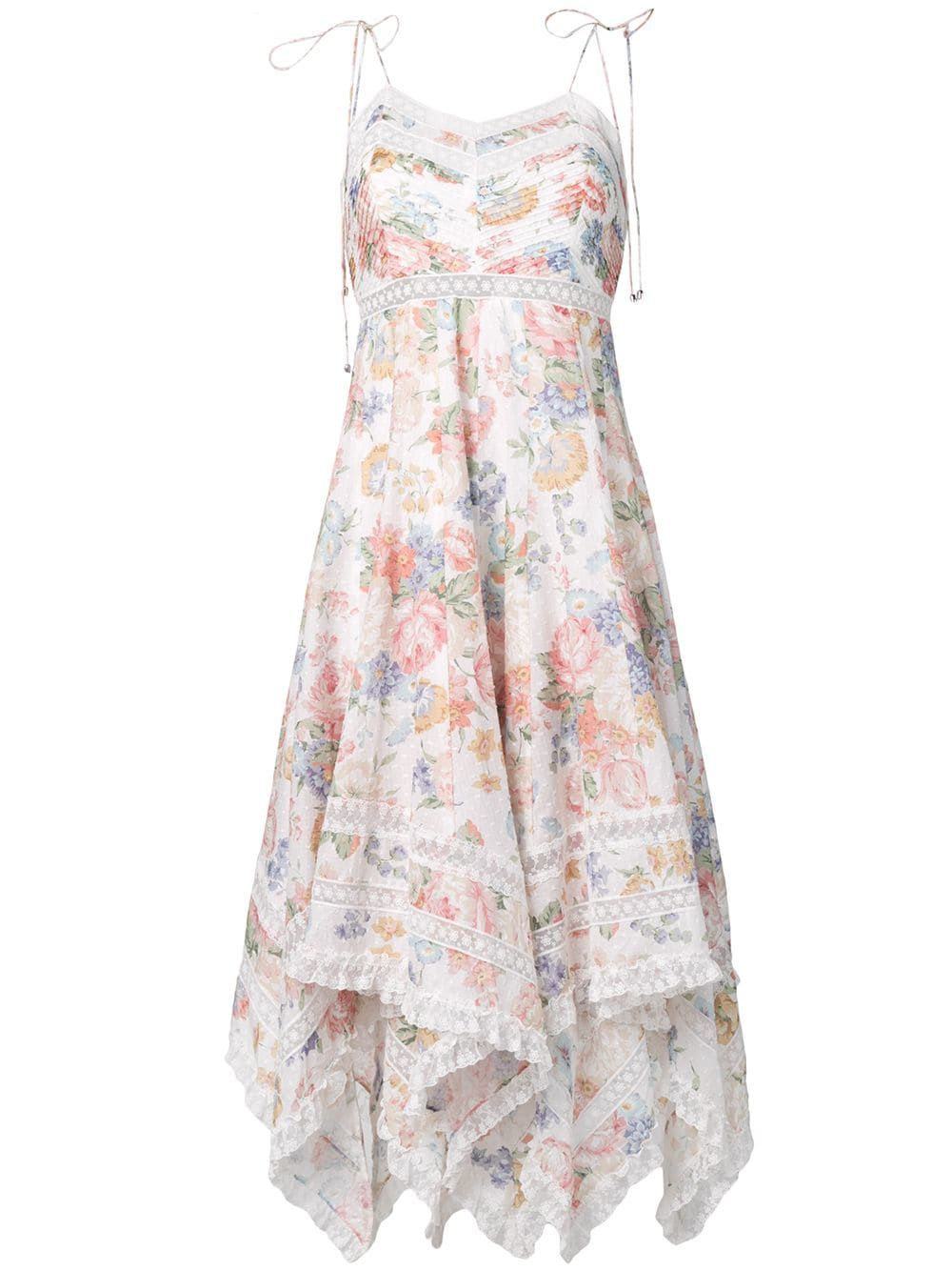 44dc4f9c33 Zimmermann floral print flutter dress - White in 2019   Products ...