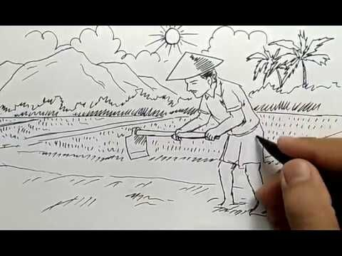 14 Gambar Pemandangan Di Sawah Dan Petani Berbagai Aktiviti Percutian Boleh Dilakukan Sepanjang Berada Disana Ramai Yang Bel Gambar Kartun Kartun Pemandangan