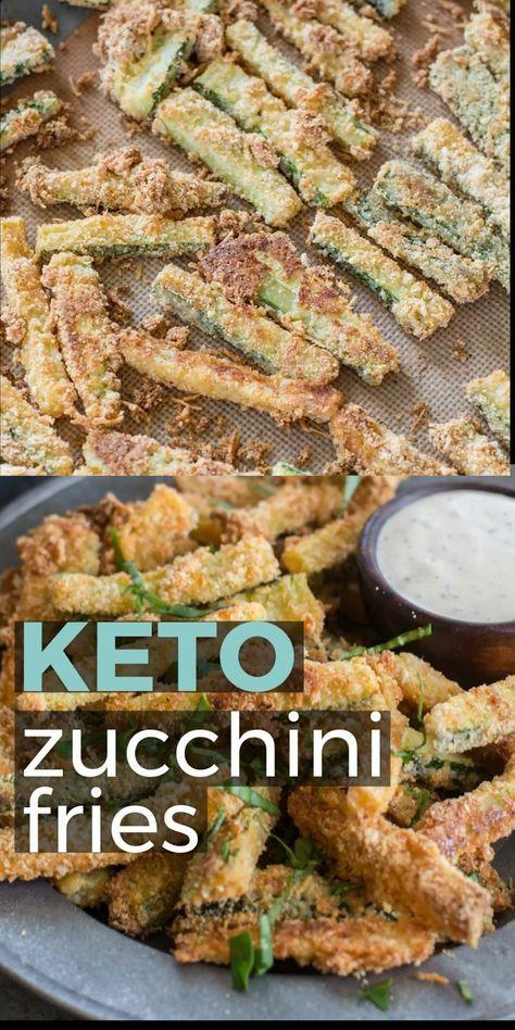 Crispy Zucchini Fries (Keto + Low Carb) - The Best