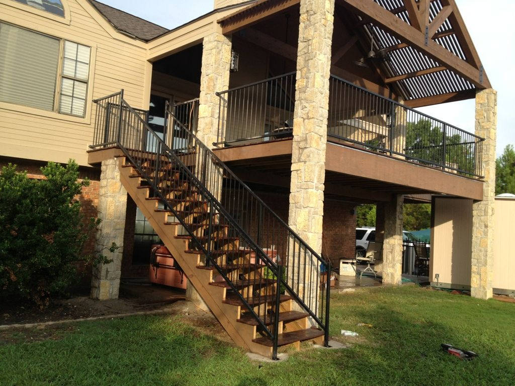 Balcony Railings Stairs DECKS AND ARBORS Pinterest