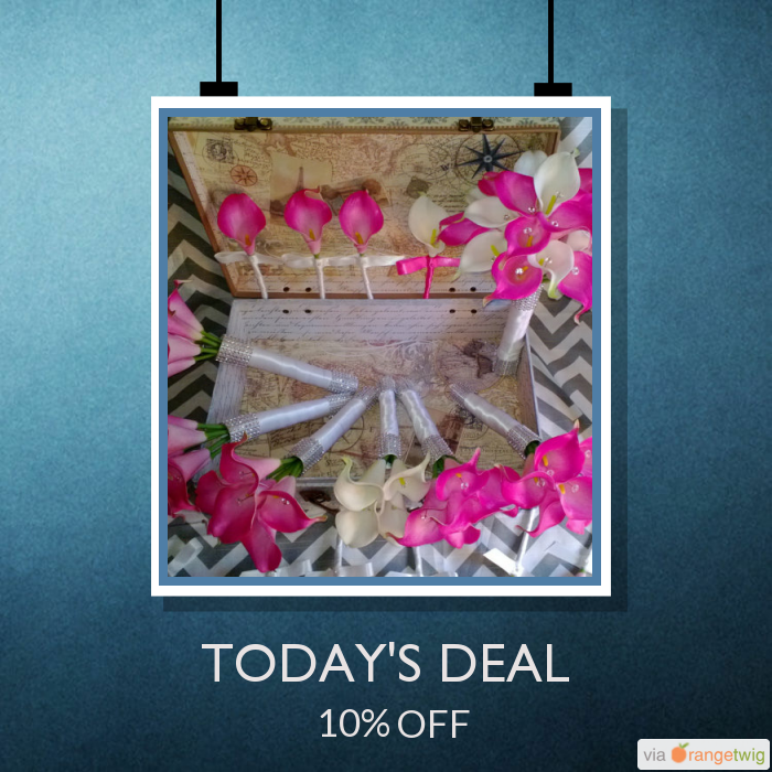 Today Only! 10% OFF this item.  Follow us on Pinterest to be the first to see our exciting Daily Deals. Today's Product: Sale -  17 Piece Hot Pink White Real Touch Calla Lily Wedding Bouquet Flower Set, Hot Pink White Bouquet, Bridal Hot Pink Calla Lily Bouquet Buy now: https://www.etsy.com/listing/114558023?utm_source=Pinterest&utm_medium=Orangetwig_Marketing&utm_campaign=June_Summer_Sale   #etsy #etsyseller #etsyshop #etsylove #etsyfinds #etsygifts #musthave #loveit #instacool #shop…