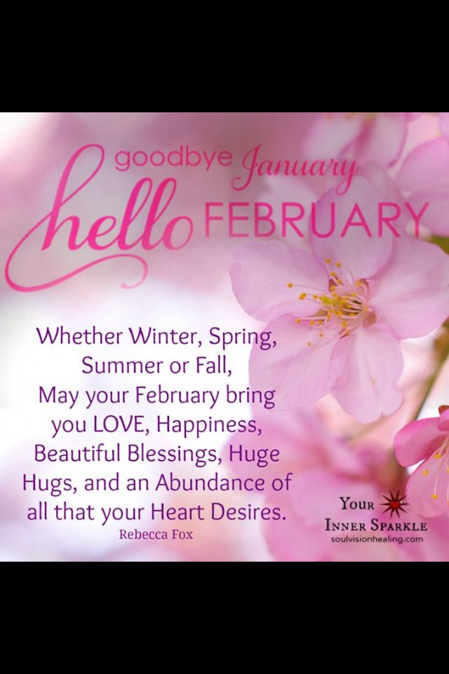 Goodbye January, hello February the month filled with #love ...