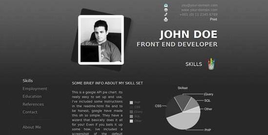 20 Free Premium WordPress Resume \/ CV Themes Web Designs - wordpress resume theme