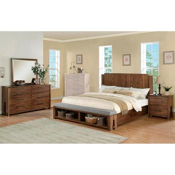 Terra Vista 4-Piece King Bedroom Set in Casual Walnut | Nebraska ...