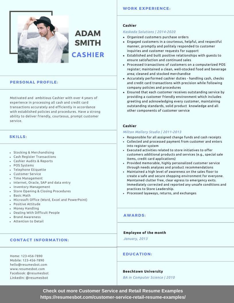 Cashier Resume Samples and Tips [PDF+DOC] Resume